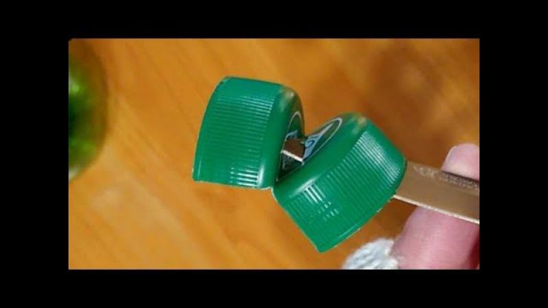Веревка из пластиковой бутылки | Крышка и нож | Бутылкорез из крышки