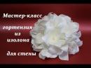 МК гортензия из изолона для фотозоны. Большие цветы. Цветы из изолона