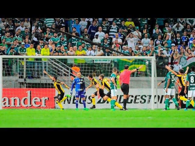 GOLAÇO 1º Gol do Peñarol Ramón Arias Palmeiras 0 x 1 Peñarol URU Libertadores 2017