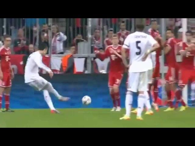 Gol de CR7 de Falta - Real Madrid vs Bayern de Munique - 29/04/2014 - 4x0