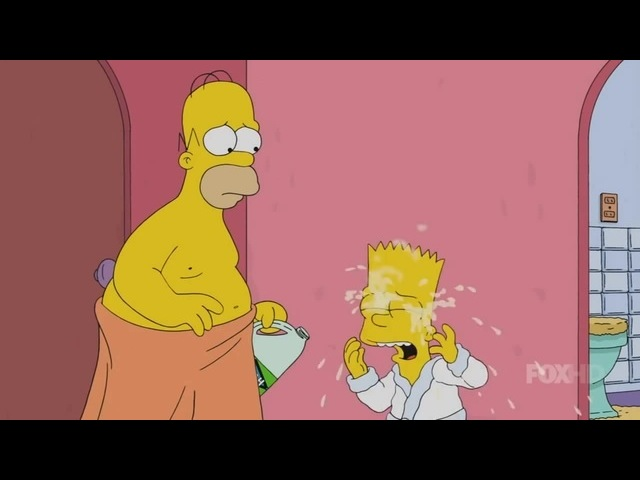 Simpsons eye bleach