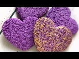 How to make lace texture on cookies.