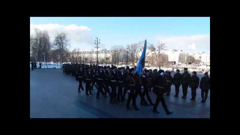 Торжественное прохождение в Александровском саду   День Защитника Отечества   24.02.2018