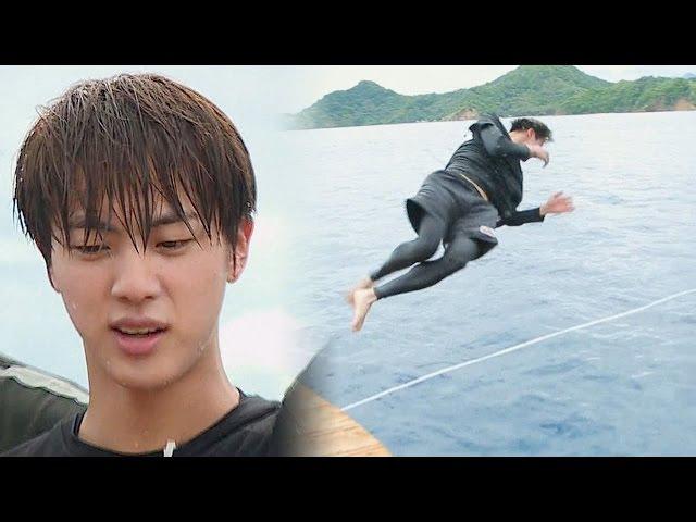 공중 3회전 점프로 우승한 방탄소년단 진 '다이빙 승자' @김병만의 정글의 법칙