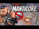 Boom Beach Manticore Solo with Bullit Taunt Without Cryo Bombs
