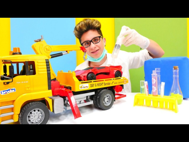 Tamir etme oyunu.Çağatay arabayı tamir ediyor. Araba servis oyunu Türkçeizle!