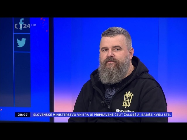 Daniel Vávra na ČT24 v pořadu 90' po vydání hry Kingdome Come (14.2.2018)