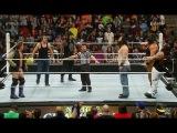 Roman Reigns, Dean ambrose with Six Man Tag Team Match Wyatt Family - HD