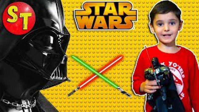 Большая фигурка ЛЕГО STAR WARS Дарт Вейдер. Клон лего. Lego Darth Vader clone. funny kids.