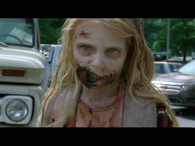 Рик убивает зомбированную девочку