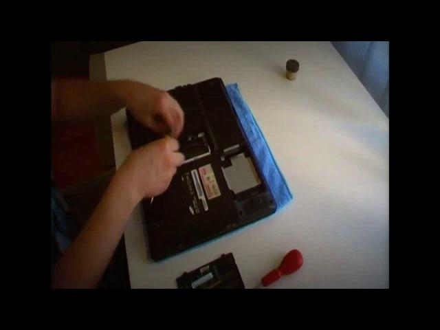 Разборка и чистка ноутбука SAMSUNG R60 Plus