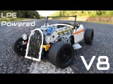 [MOC] Lego Technic Pneumatic V8 HOT ROD - 1/8th Scale - Compressed Air Powered and RC