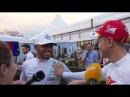 F1 2017 Australian GP - Lewis Hamilton confronts Sebastian Vettel over touching his car