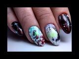 Очень красивый зимний дизайн ногтей птичка и снег. ТОП удивителные дизайны ногтей