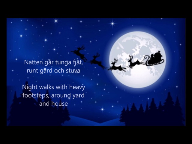 Natten går tunga fjät (Sankta Lucia) - ENGLISH TRANSLATION