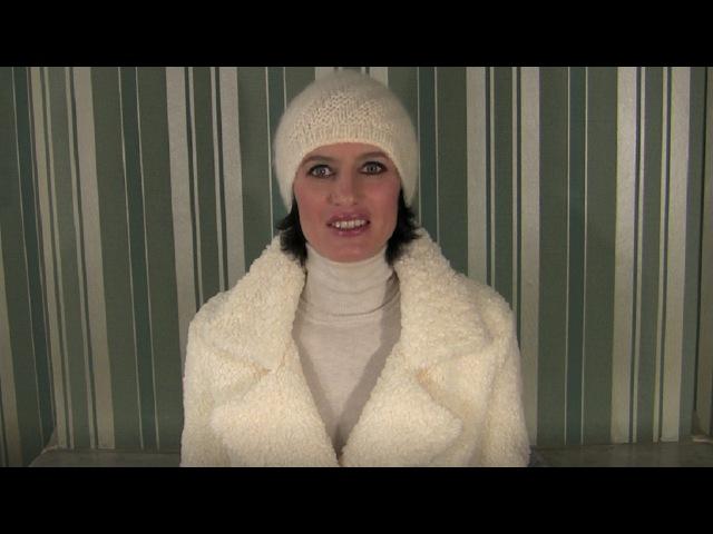 Вязаные шапки спицами: 1 видео. Шапка спицами лицевыми и изнаночными петлями. Вяз...