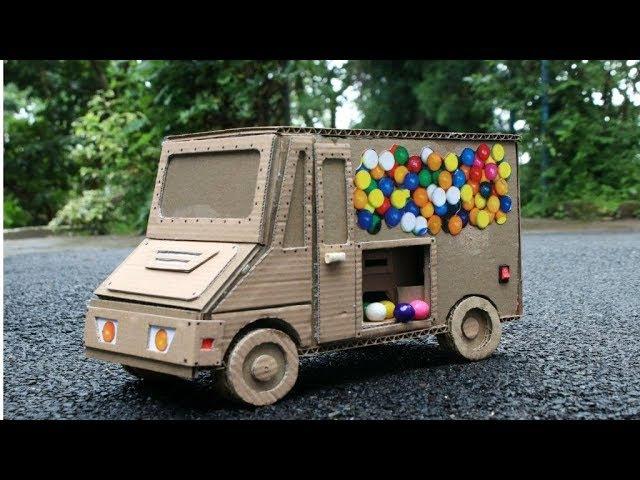 Amazing Dubble Bubble Gumball Food dispenser truck DIY