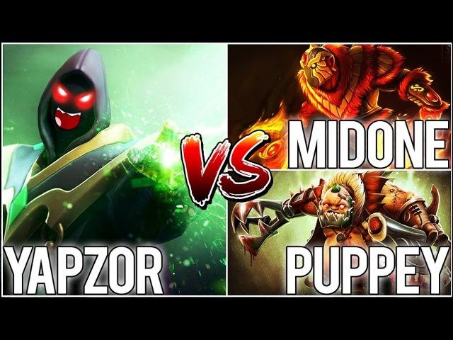 Yapz0r Rubick vs MidOne Ember Spirit Puppey Pudge - Crazy Game 2x COMEBACK?! [Dota 2]