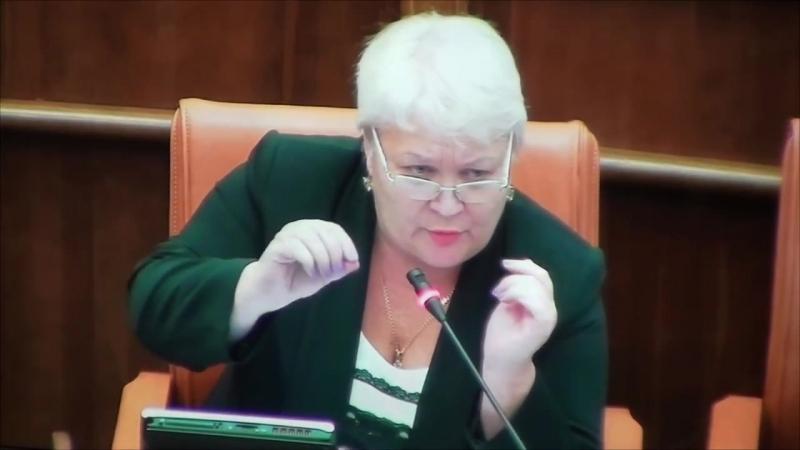 Людмила Магомедова ботает по фене на сессии заксобрания
