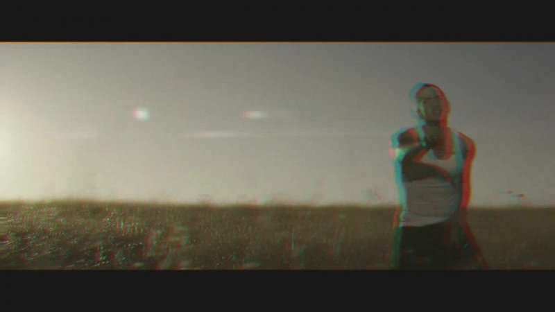 Eminem - Love The Way You Lie ft. Rihanna. anaglyph halftone, self-made