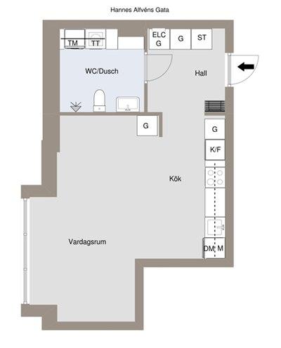Скандинавский интерьер квартиры-студии 38 м.