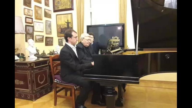 Москва - Париж. Фортепианные мосты. Виктор Рябчиков и Андреа Виванет в Музее-квартире Голованова.