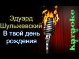 Эд Шульжевский - В твой день роденья ( караоке )