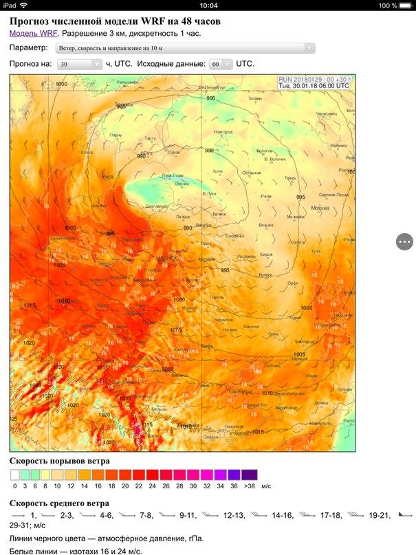 Во вторник и среду ожидается сильный ветер. Синоптики объявили оранжевый уровень опасности