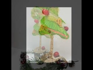 новогодние сувениры ручной работы. Птица-Синицы