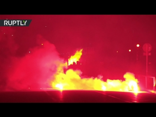 Raw: italian city in flames following clashes between cops & antifa protesters