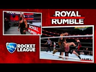 WWE 2017 01 28 Royal Rumble PPV Brock Lesnar vs. Kane vs. Braun Strowman (Universal Championship)