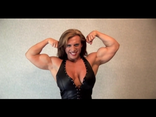 Fbb Muscle Girl Posing Privet Room