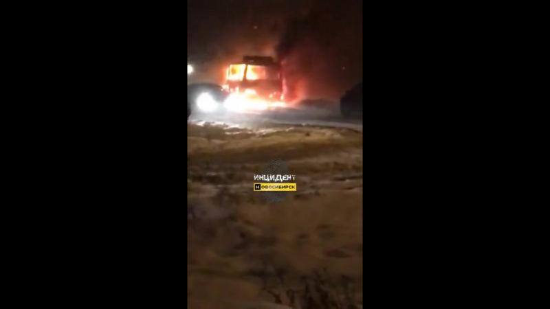 На Северо-Чемском горит автобус №12