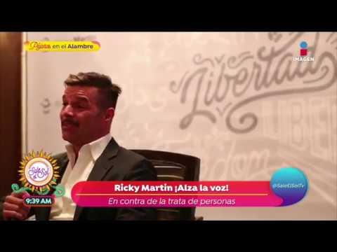 ¡Ricky Martin alza la voz contra la trata de personas!   Sale el Sol