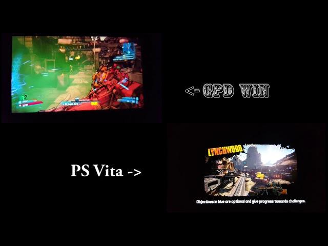 GPD Win vs PS Vita Borderlands 2