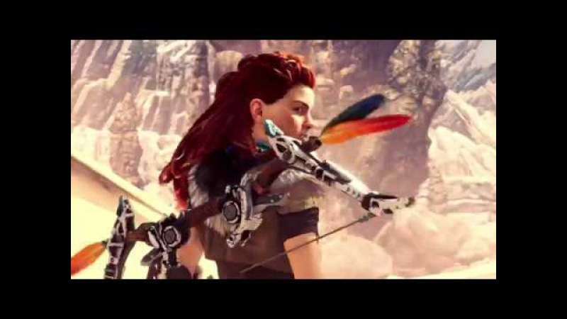 Monster Hunter World PS4 Trailer Aloy Crossover Costume | PlayStation 4 | Paris Games Week 2017