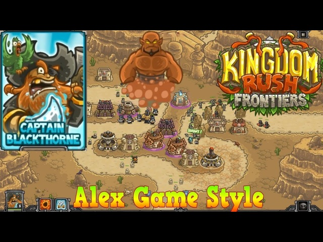 Kingdom Rush Frontiers HD || BOSS Nazeru's Gates Campaign Level 6 || Hero Captain Blackthorne