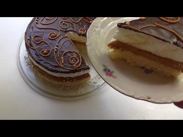 Торт Птичье молоко без желатина без агар-агара в микроволновке за 5 минут Бисквит в микроволновке