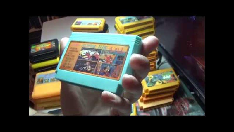 Моя коллекция картриджей Dendy TV Game Cartridge только 90-х