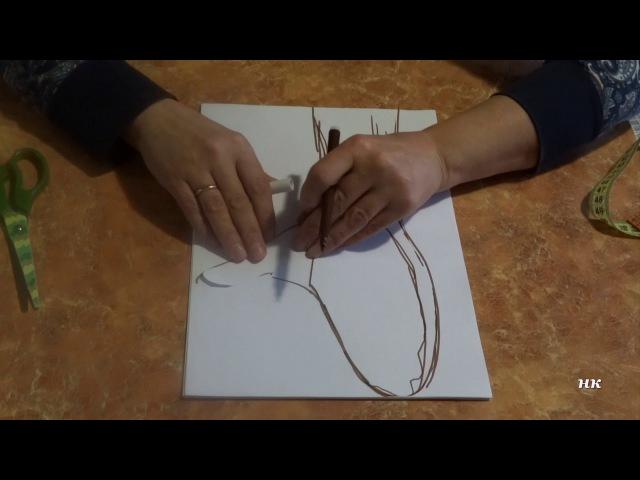 Как построить шаблон для валяных митенок и варежек