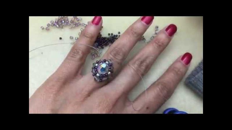 False Bezel Ring --Lefthand Beading Tutorial