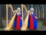 NORSK JUL (Original Song) Camille and Kennerly, Harp Twins