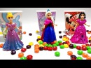 Play Doh Sparkle Princess Ariel Elsa Anna Disney Frozen MagiClip Glitter Glider Magic Clip Dolls