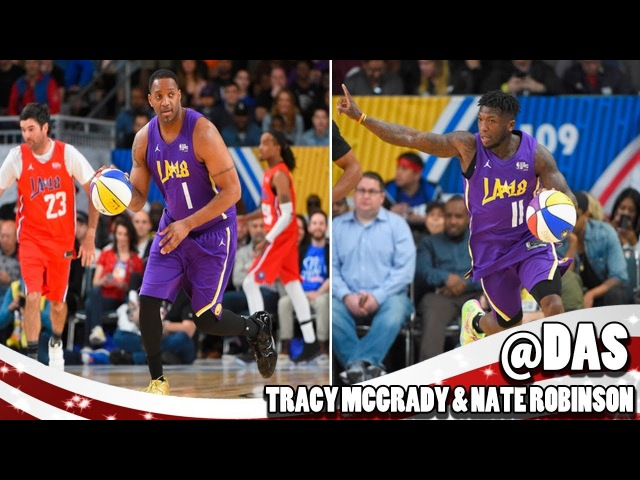Tracy McGrady Nate Robinson Highlights at 2018 NBA Celebrity All-Star Game (2017.02.16)