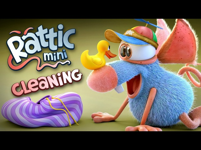 Funny Cartoon | Rattic Mini – Cleaning | Funny Cartoons For Children Kids | Funny Kids Videos