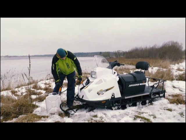 Заправка снегохода Stels Мороз, передача Два Колеса, Выпуск №100