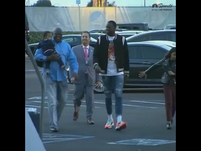 "Draymond Green on Instagram: ""Dray arriving at Oracle with the fam for some Tuesday night hoops. 🔥"""