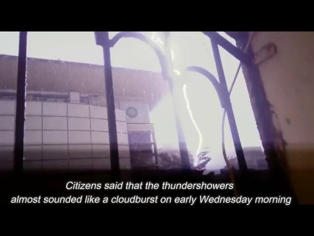 LIVE VIDEO OF THUNDER STORM MUMBAI !!Mumbaikar woken up by thunder ! WATCH TILL END