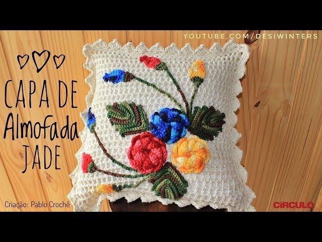Capa de Almofada Jade de Crochê - Artes da Desi