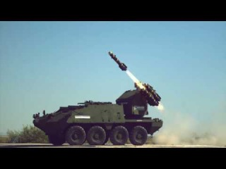 White Sands Missile Range - Stryker MSL 8X8 M-SHORAD Armoured Vehicle Firing Tests [1080p60]